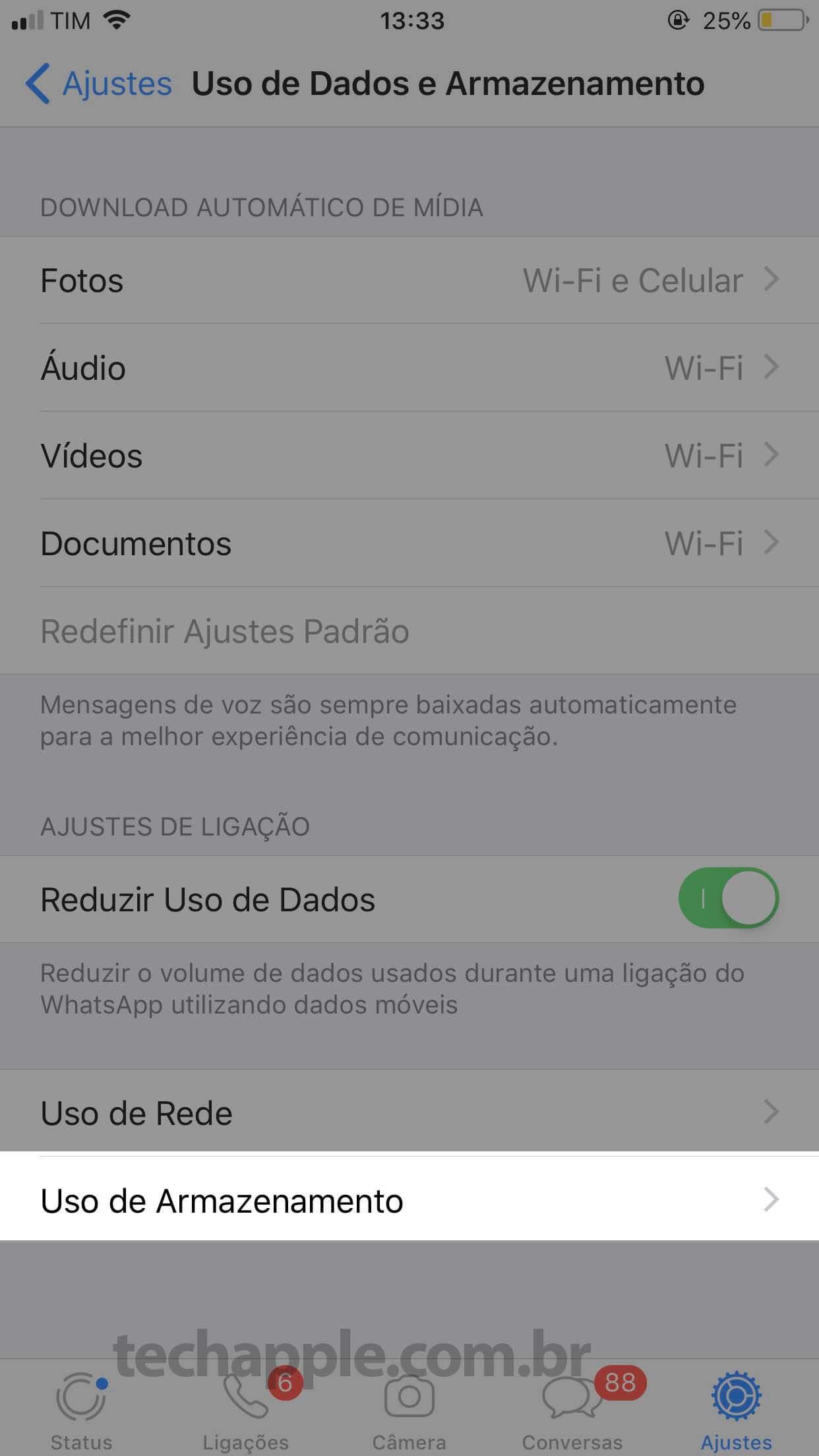 WhatsApp Ajustes 2 - TechApple.com.br