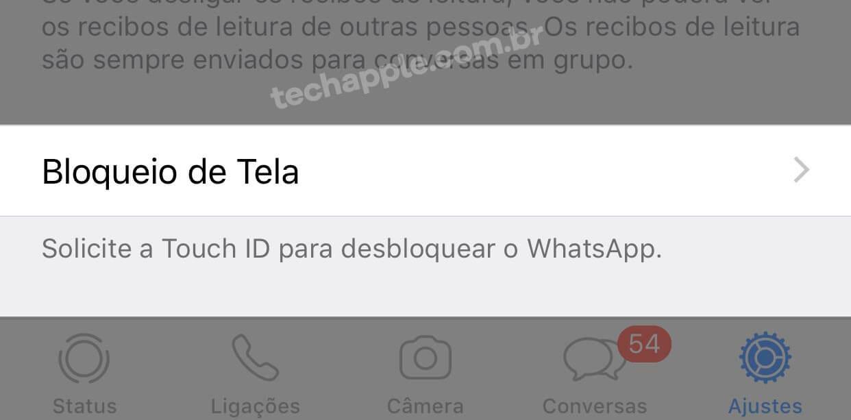 Bloqueio de Tela. - WhatsApp